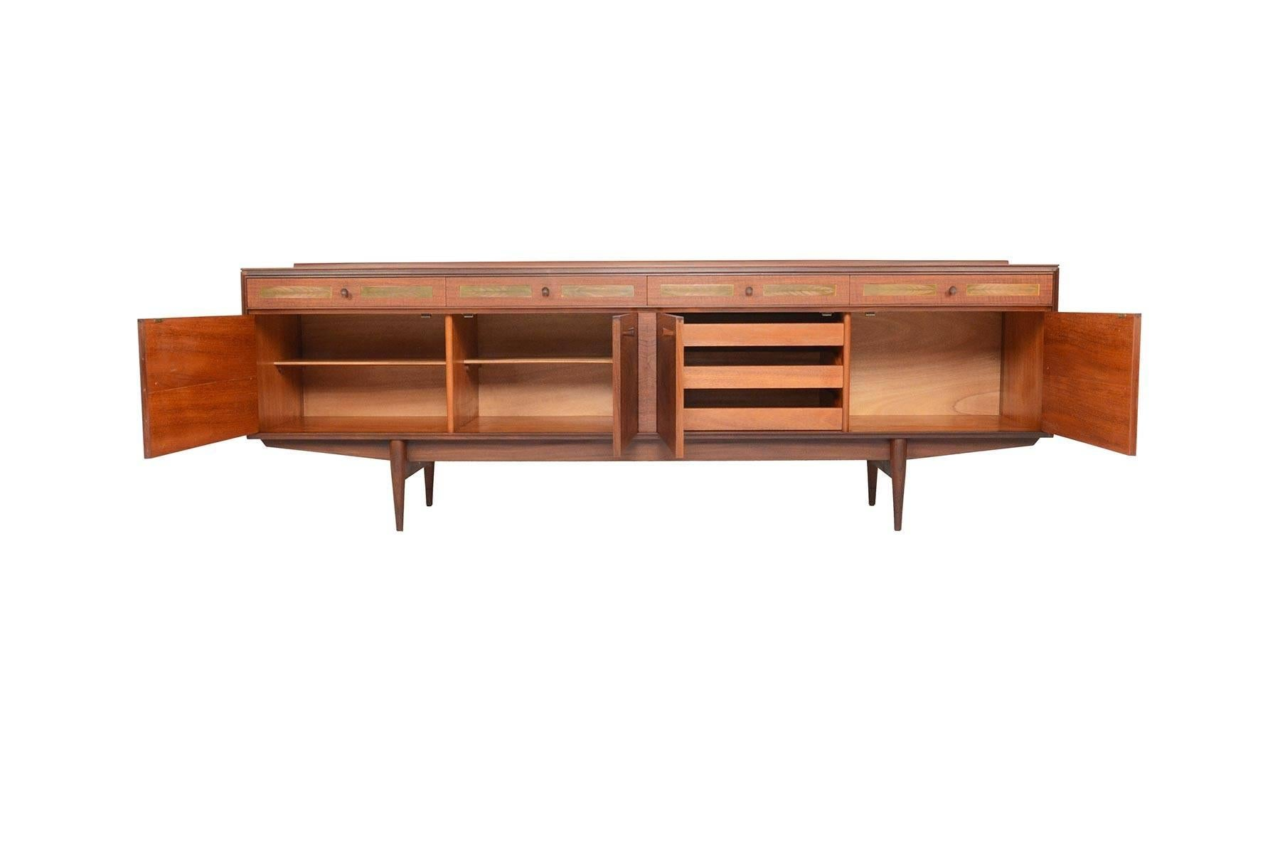 This English Modern Midcentury Large Teak Credenza Was Designed By Robert  Heritage For Archie Shine Furniture