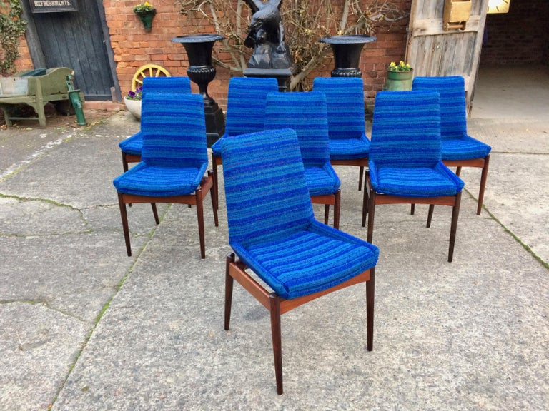 Robert Heritage for Archie Shine Rosewood Dining Chairs Set of 8 Hamilton, 1960s For Sale 7