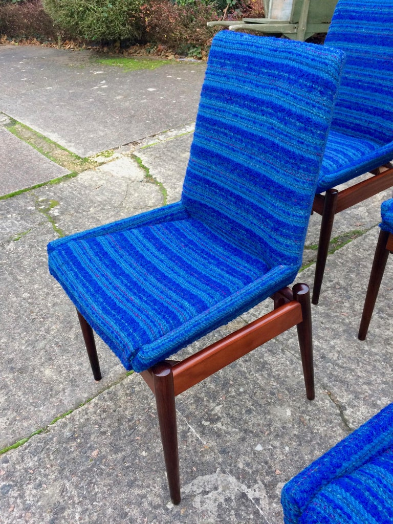 English Robert Heritage for Archie Shine Rosewood Dining Chairs Set of 8 Hamilton, 1960s For Sale