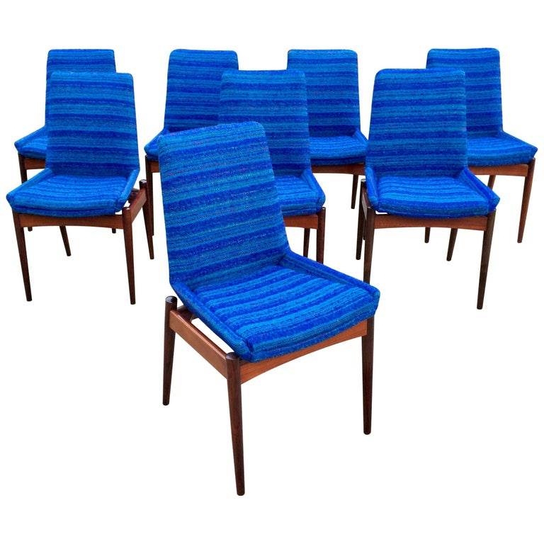 Robert Heritage for Archie Shine Rosewood Dining Chairs Set of 8 Hamilton, 1960s For Sale