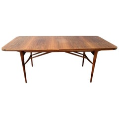 Robert Heritage for Archie Shine Teak and Rosewood Dining Table with Extensions