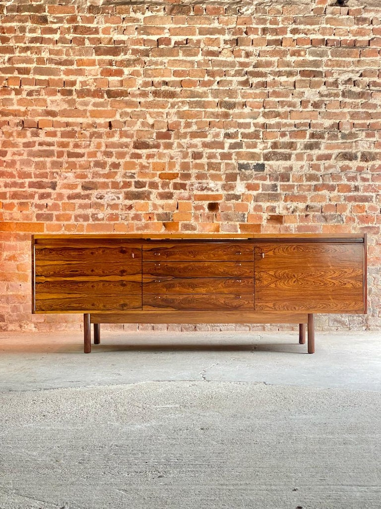 Robert Heritage granville rosewood sideboard by Archie Shine Circa 1969 Magnificent Robert Heritage granville rosewood sideboard by Archie Shine circa 1969, this rare and highly sought after sideboard with its wonderful figured Brazilian rosewood