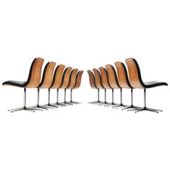 Robert Heritage Set of Twelve Office Chairs in Rosewood