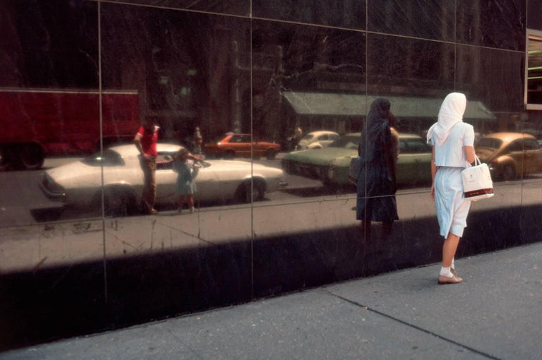 Robert Herman Color Photograph - A Woman Walking in Soho, New York 1981 (The New Yorkers)