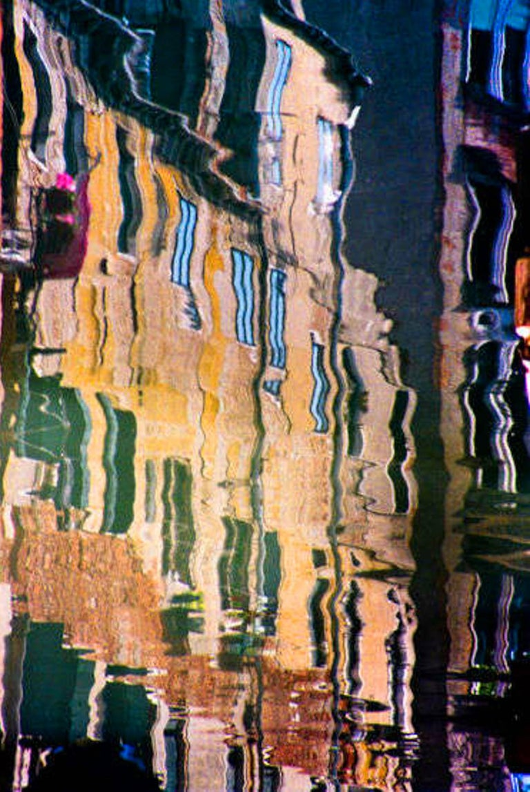 Robert Herman Abstract Photograph - Canal Reflections photograph, Venice, Italy (Venice canals)
