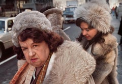 """Fur"" Manhattan 1980s (New York street photography Robert Herman)"