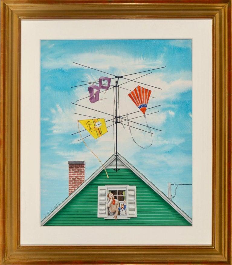 Kite Catcher - Painting by Robert Hilbert
