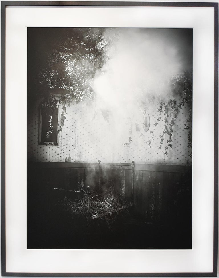 After the Smoke: Modern Black & White Photograph of an Old-Fashioned Interior For Sale 1