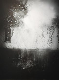 After the Smoke: Modern Black & White Photograph of an Old-Fashioned Interior