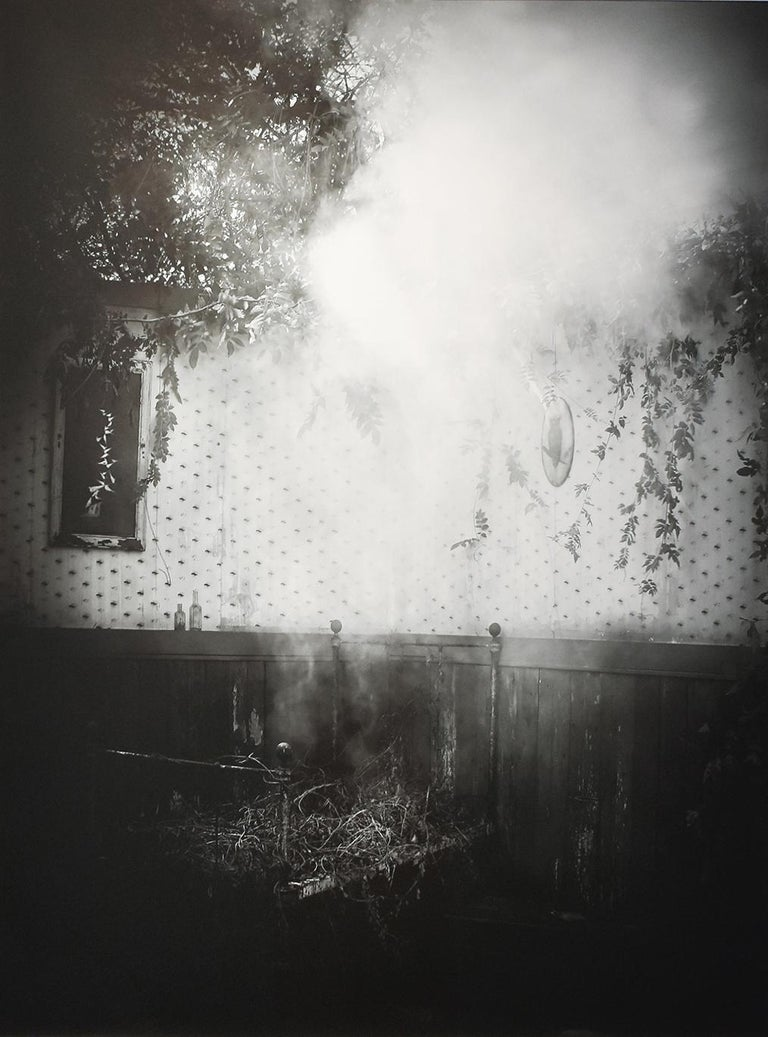 Robert Hite Black and White Photograph - After the Smoke: Modern Black & White Photograph of an Old-Fashioned Interior