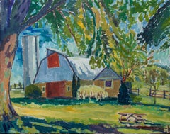 Barn in Early Fall, Original Painting