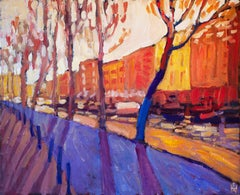 Canal at Sunrise, Original Painting