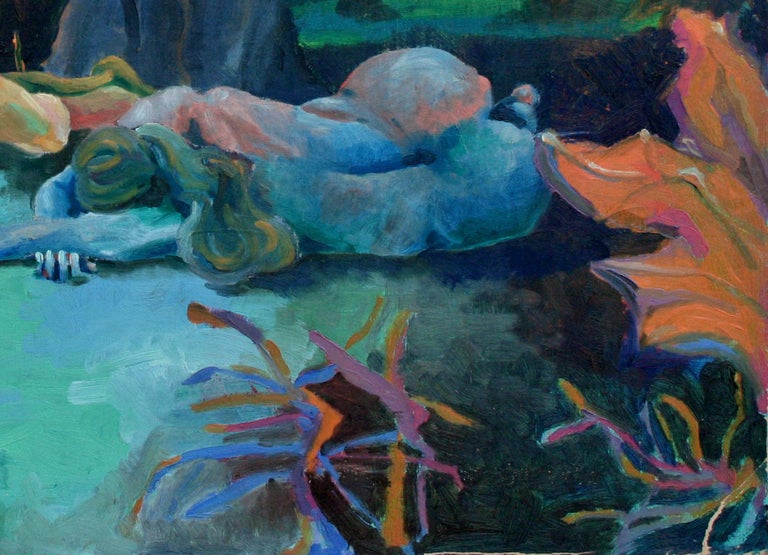 Resting in Nature - Abstract Impressionist Painting by Robert Hoge