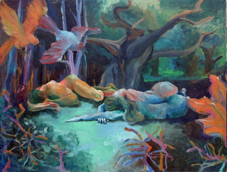 Robert Hoge Figurative Painting - Resting in Nature