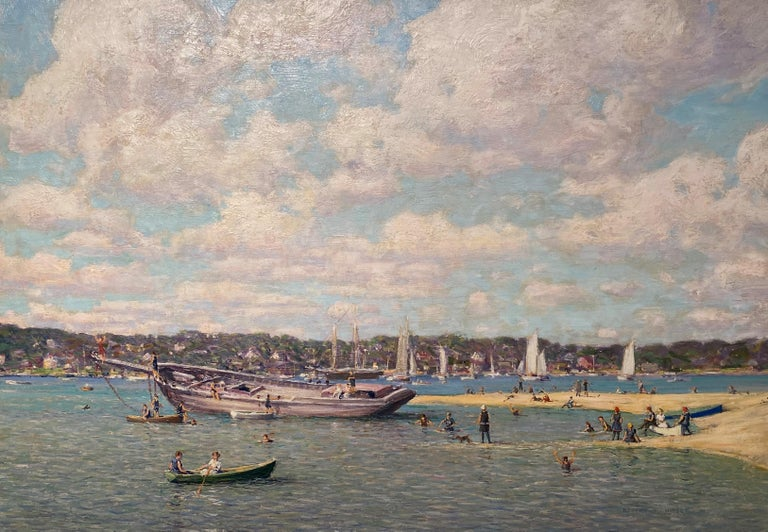Northport Long Island, New York 1914 - Painting by Robert Hogg Nisbet
