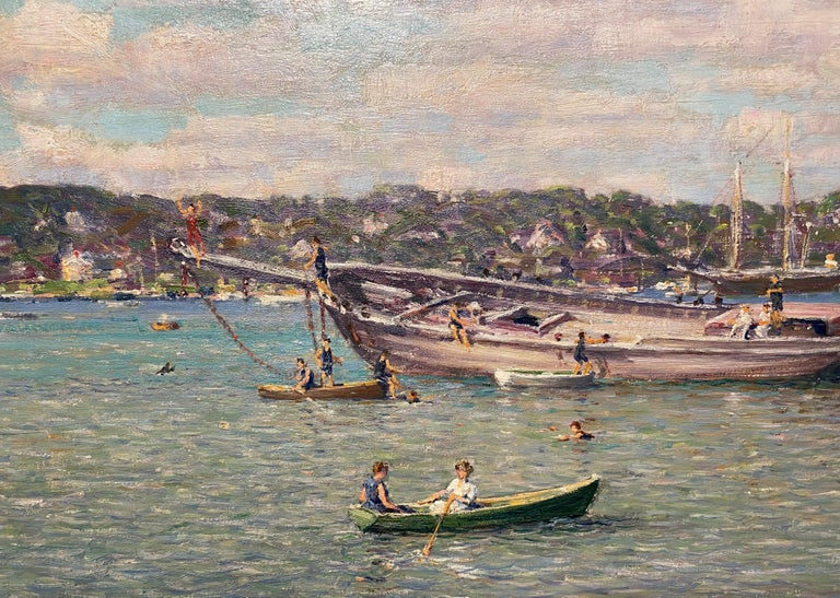 Northport Long Island, New York 1914 - American Impressionist Painting by Robert Hogg Nisbet