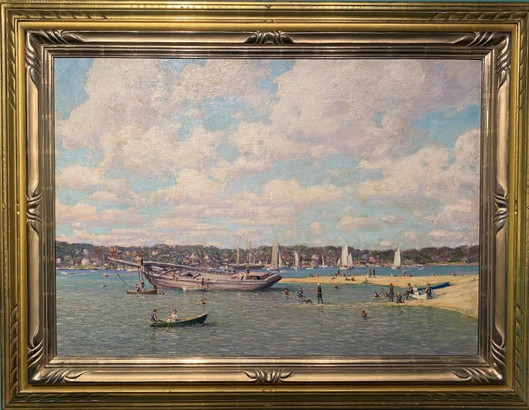 Robert Hogg Nisbet Figurative Painting - Northport Long Island, New York 1914