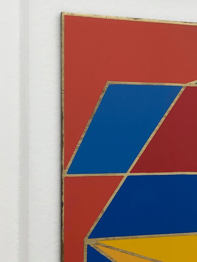 Robert Indiana Enamel on Metal, Star of Hope, 1972 in Red, Blue, Yellow & Green For Sale 6