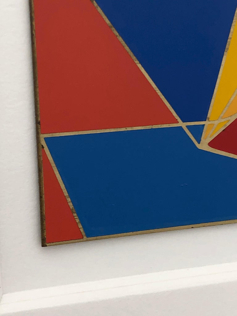 Robert Indiana Enamel on Metal, Star of Hope, 1972 in Red, Blue, Yellow & Green For Sale 3