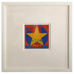 Robert Indiana Enamel on Metal, Star of Hope, 1972 in Red, Blue, Yellow & Green