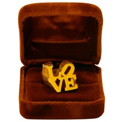 Robert Indiana Hippie LOVE Ring, 1970s