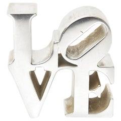 Robert Indiana Love Paperweight Sculpture Desk Accessory