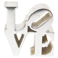 Robert Indiana 'LOVE' Paperweight Sculpture
