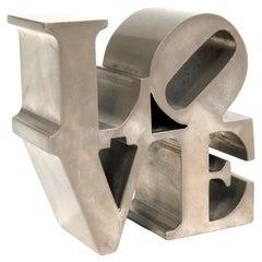 """Robert Indiana """"LOVE"""" Paperweight Sculpture"""