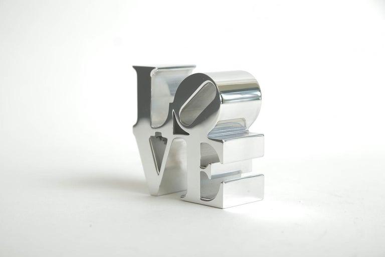 Modern Robert Indiana Love Paperweight Sculpture Vintage Desk Accessory