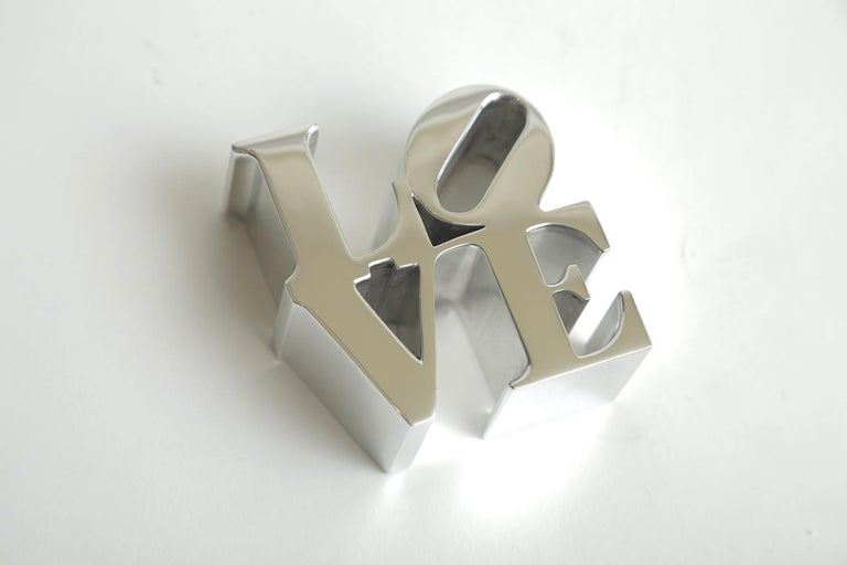 American Robert Indiana Love Paperweight Sculpture Vintage Desk Accessory