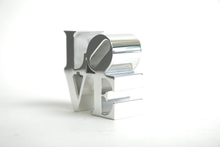 Late 20th Century Robert Indiana Love Paperweight Sculpture Vintage Desk Accessory