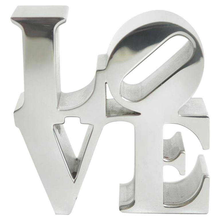 Robert Indiana Love Paperweight Sculpture Vintage Desk Accessory