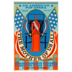 """Robert Indiana Pop Opera """"Mother Of Us All"""" 1967 Poster"""