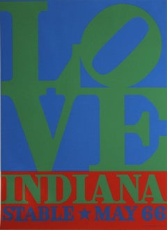 1971 After Robert Indiana 'LOVE-Stable' Pop Art Green,Blue,Red USA Serigraph