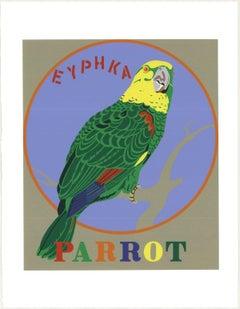 1997 Robert Indiana 'Parrot' Pop Art Multicolor,Blue,Green USA Serigraph