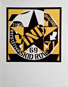 69 Skid Row, Limted Edition Lithograph, Robert Indiana