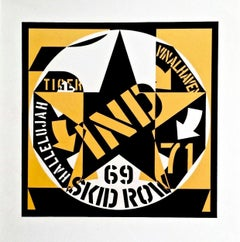 69 Skid Row, Limted Edition Lithograph, Robert Indiana