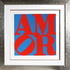 AMOR, Aquatint Etching by Robert Indiana