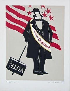 Anthony Comstock The Mother of Us All Limited Edition Lithograph Robert Indiana