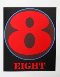 """""""Eight"""", Serigraph from the American Dream Portfolio by Robert Indiana"""