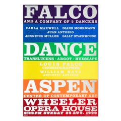 Falco Dance Company, 1968, Screen Print on Silver Reflective Paper, Pop Art