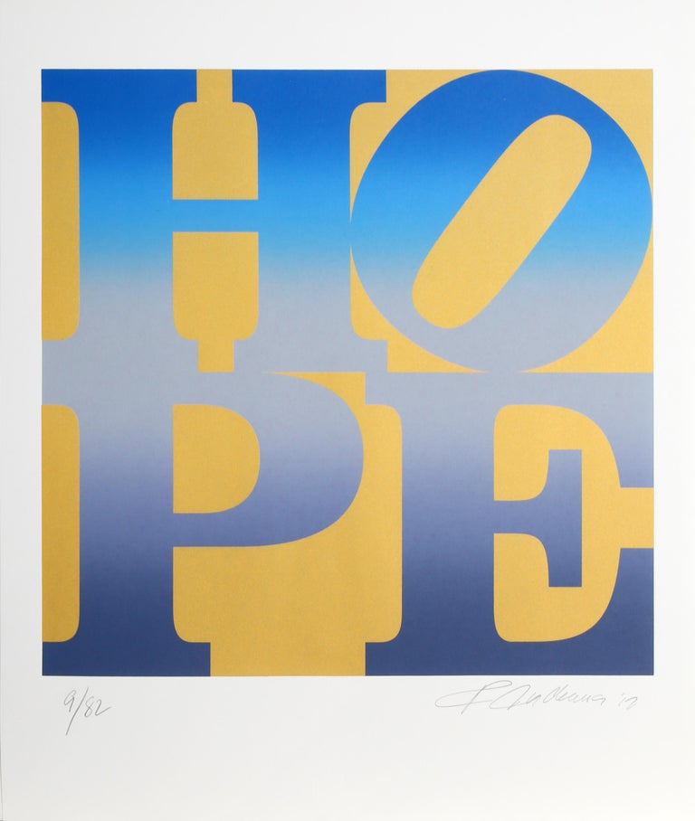Four Seasons of HOPE (Gold), Suite of Four Silkscreens by Robert Indiana For Sale 4