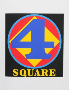 """Four Square"", Serigraph from the American Dream Portfolio by Robert Indiana"