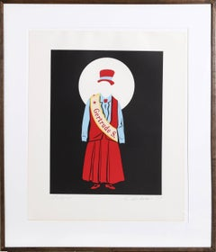"""Gertrude Stein"" Lithograph by Robert Indiana"