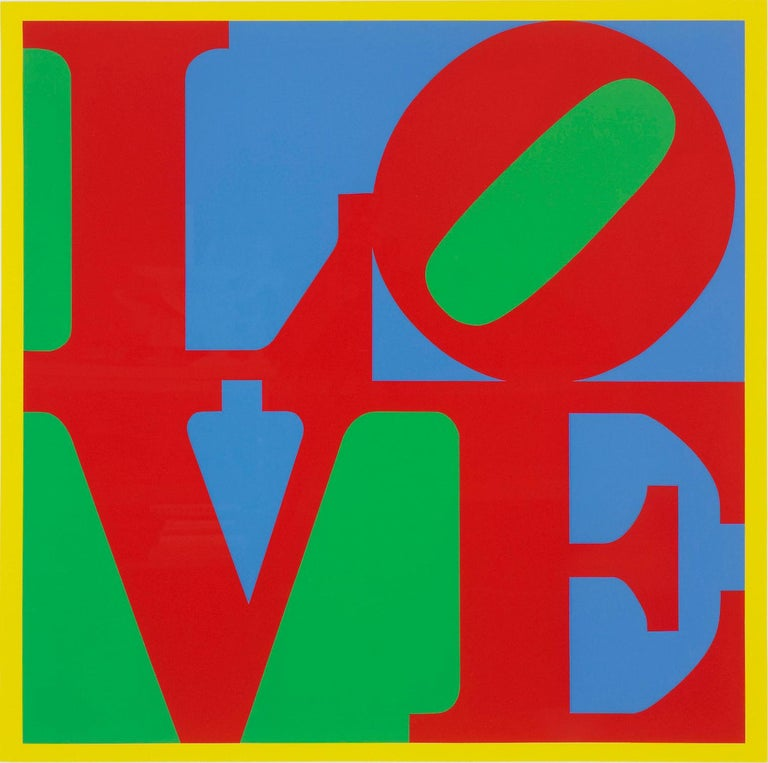Heliotherapy Love - Print by Robert Indiana