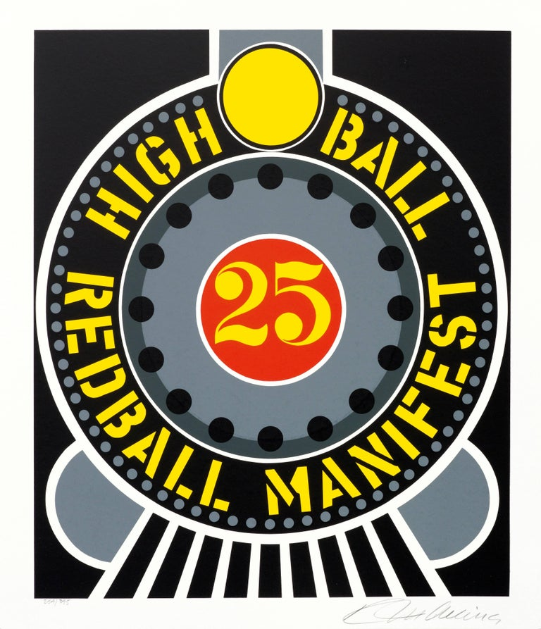 Robert Indiana Print - High Ball Red Ball Manifest from the American Dream Portfolio