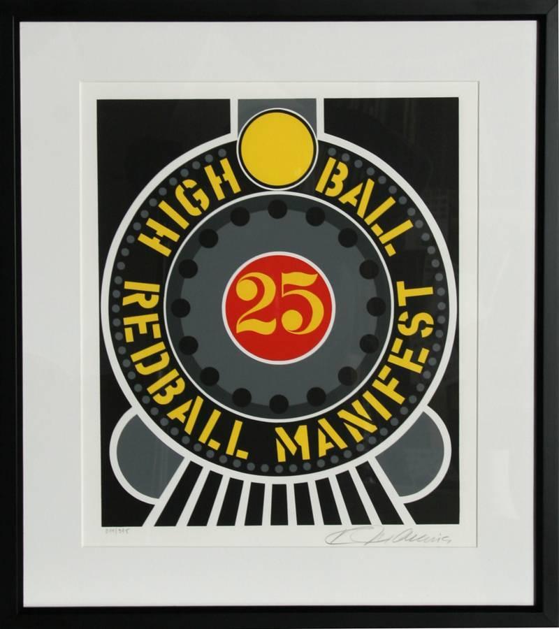 High Ball Redball Manifest, Pop Art Silkscreen by Robert Indiana