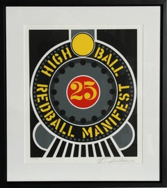High Ball Redball Manifest, Pop Art Silkscreen by Robert Indiana