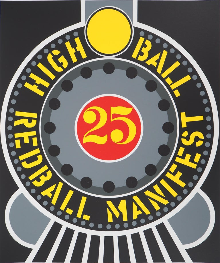Highball on the Redball Manifest - Original screenprint, Handsigned -Certificate - American Modern Print by Robert Indiana
