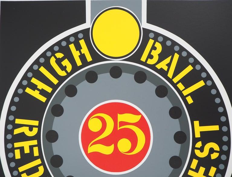 Highball on the Redball Manifest - Original screenprint, Handsigned -Certificate - Black Abstract Print by Robert Indiana
